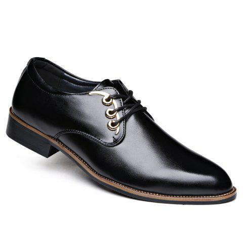 Men Casual High Quality Comfort Business Footwear Shoes - BLACK 42