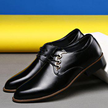 Men Casual High Quality Comfort Business Footwear Shoes - BLACK 38