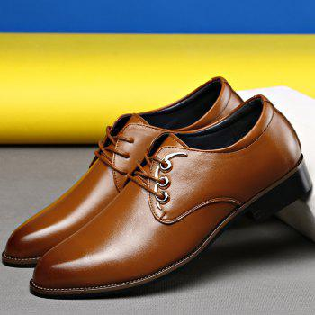 Men Casual High Quality Comfort Business Footwear Shoes - YELLOW 43