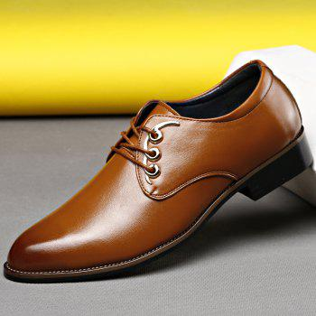 Men Casual High Quality Comfort Business Footwear Shoes - YELLOW 39