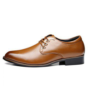 Men Casual High Quality Comfort Business Footwear Shoes - YELLOW 37