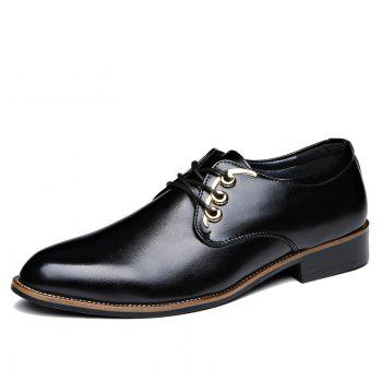 Men Casual High Quality Comfort Business Footwear Shoes - BLACK 41