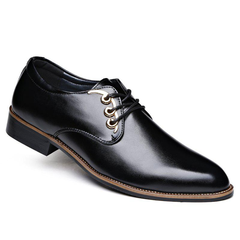Men Casual High Quality Comfort Business Footwear Shoes - BLACK 40