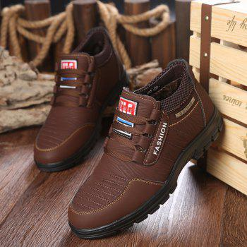 Men Outdoor Hiking Casual British Comfort Leisure Footwear Shoes - DEEP BROWN 39