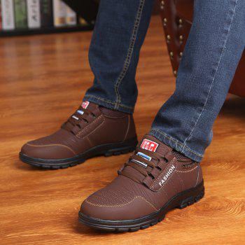Men Outdoor Hiking Casual British Comfort Leisure Footwear Shoes - DEEP BROWN 38