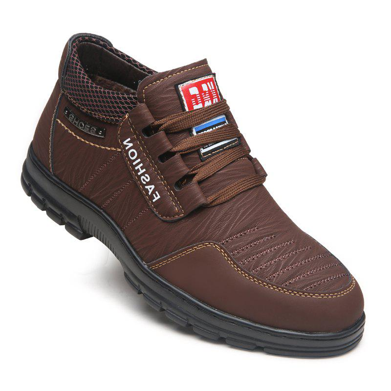 Men Outdoor Hiking Casual British Comfort Leisure Footwear Shoes - DEEP BROWN 40