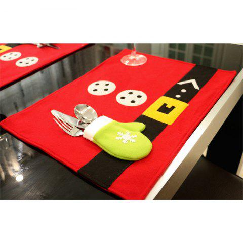 Christmas Table Mat Restaurant Decoration Western Knife and Fork Table Mat Set - COLORFUL