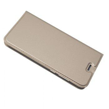 Pure Color Magnetic Pull in Leather Case Cover for Huawei Honor 9 - GOLDEN