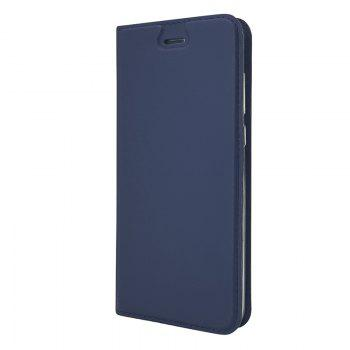 Pure Color Magnetic Pull in Leather Case Cover for Huawei Honor 9 -  DEEP BLUE
