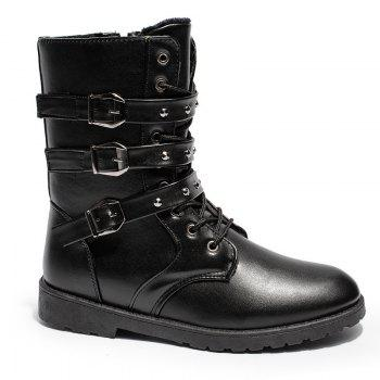 Hiver Martin Bottes Haute Neige Velours Chaud Hommes Chaussures