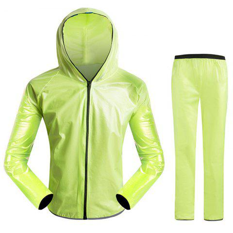 Split Raincoat Vêtements ultra-minces - Vert 3XL
