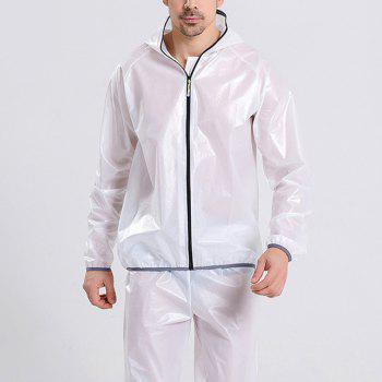 Split Raincoat Ultra-Thin Skin Clothing - WHITE 3XL