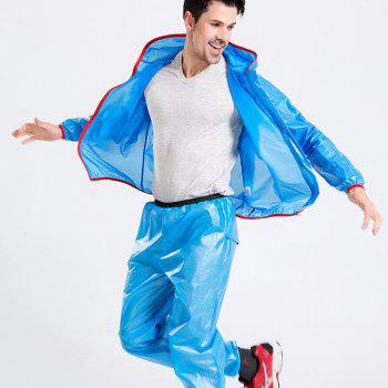 Split Raincoat Ultra-Thin Skin Clothing - BLUE BLUE