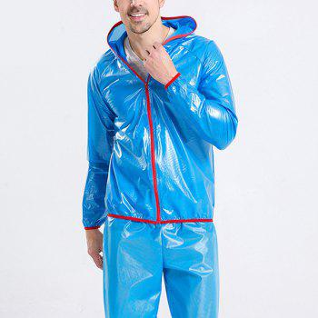 Split Raincoat Ultra-Thin Skin Clothing - BLUE 3XL