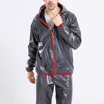 Split Raincoat Ultra-Thin Skin Clothing - BLACK BLACK