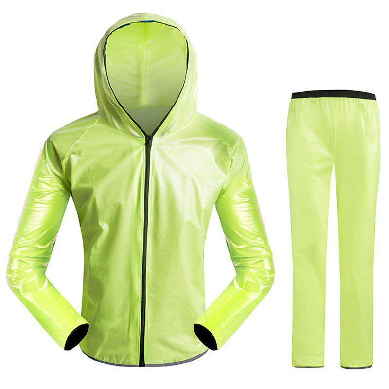 Split Raincoat Ultra-Thin Skin Clothing - GREEN XL