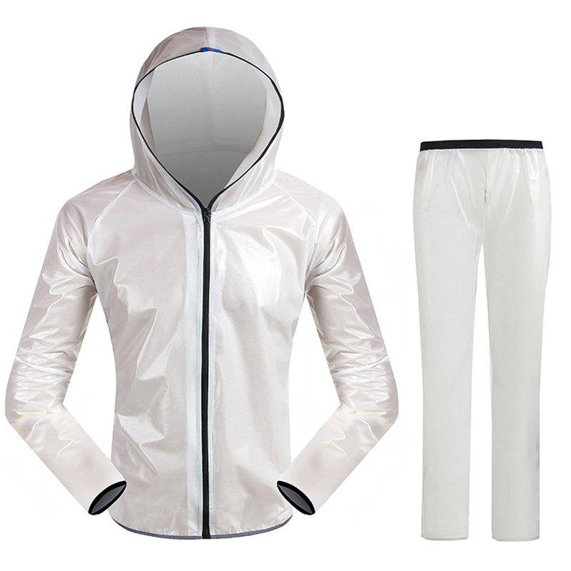 Split Raincoat Vêtements ultra-minces - Blanc M
