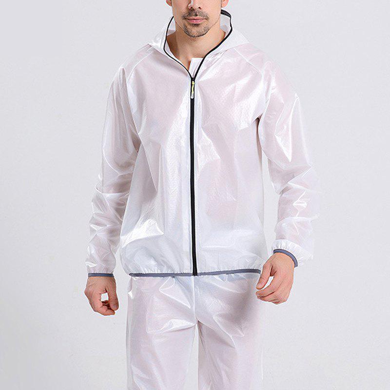 Split Raincoat Vêtements ultra-minces - Blanc 3XL