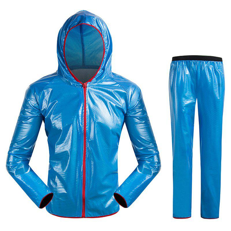 Split Raincoat Vêtements ultra-minces - Bleu L