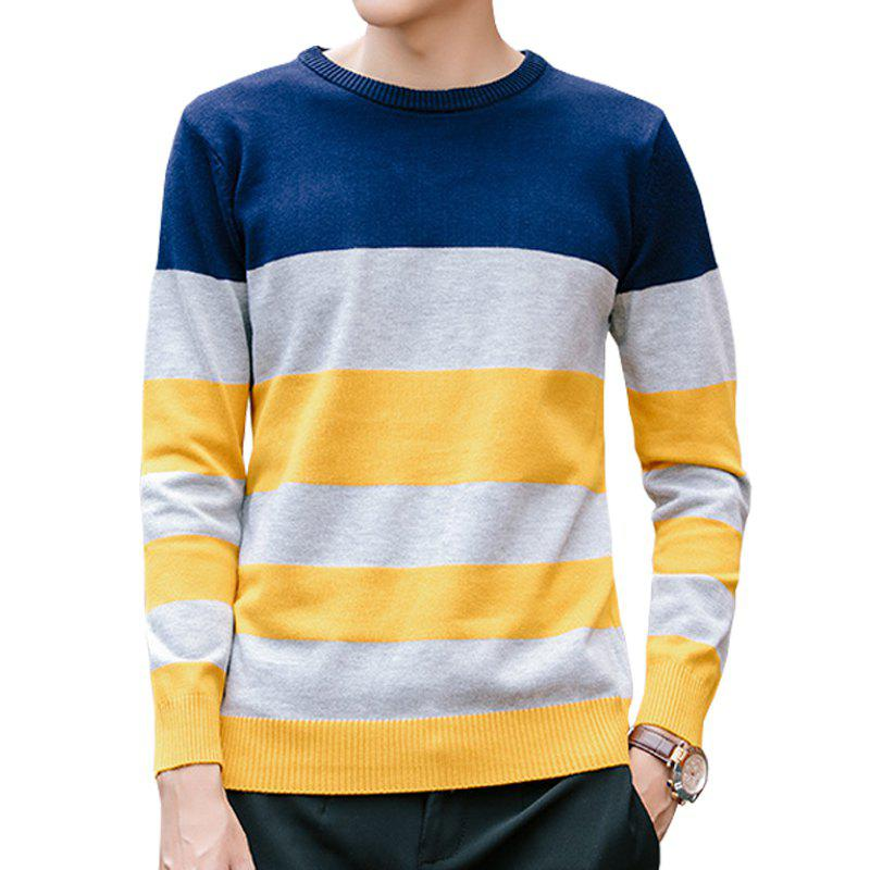 2017 Men'S Youth Striped Sweater BLUE / YELLOW XL In Cardigans ...