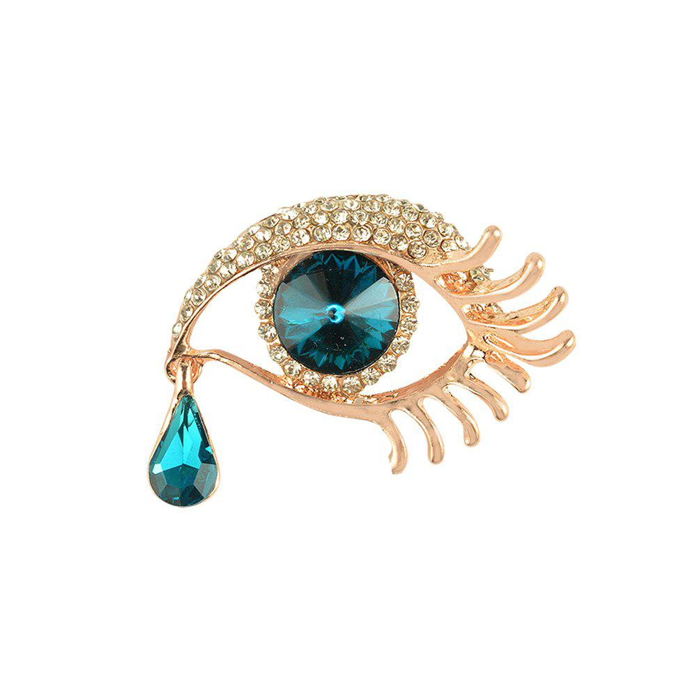 Angel'S Teardrop Brooches Broches for Women Vintage Evil Eye Angle Tear Brooch Wedding Hijab Scarf Pin Up Buckle Feminin lucky zodiac animal cute cat brooch pin for women rhinestone animal brooches broches simulation pearl russia lapel corsage pin