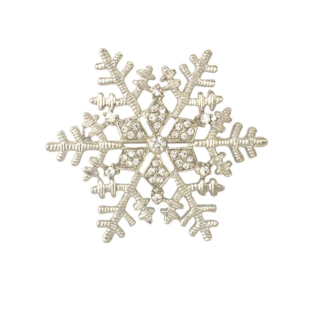 Christmas Gifts Snowflake Brooches For Women Garment Accessories Crystal Rhinestone Scarf Pins Brooches Jewelry snowflake snowman christmas tree pattern brooches