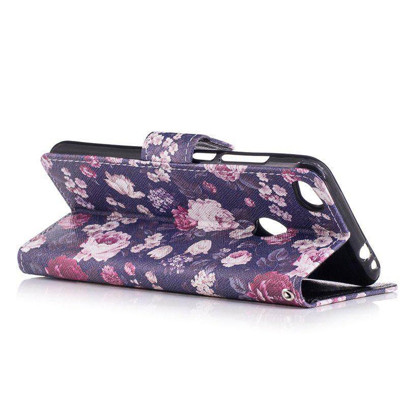 Bicycle Painting Card Lanyard Pu Leather Cover for HUAWEI P8 LITE 2017 - PURPLE