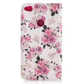 Dog Painting Card Lanyard Pu Leather Cover for HUAWEI P8 LITE 2017 -  PINK