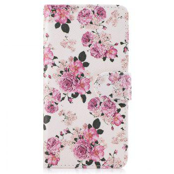 Dog Painting Card Lanyard Pu Leather Cover for HUAWEI P8 LITE 2017 - PINK PINK