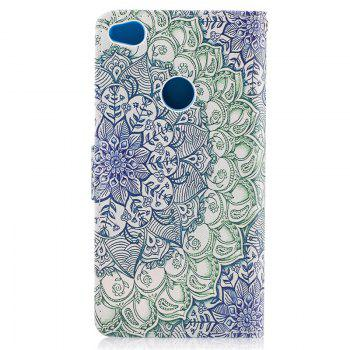 Dog Painting Card Lanyard Pu Leather Cover for HUAWEI P8 LITE 2017 -  LIGHT GRAY