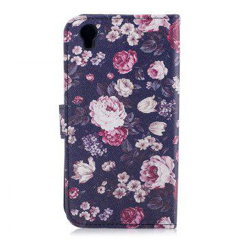 Dandelion Painting Card Lanyard Pu Leather Cover for Sony L1/E6 -  PURPLE