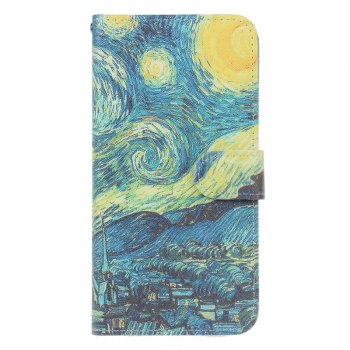 Bicycle Painting Card Lanyard Pu Leather Cover for Sony L1/E6 - BLUE BLUE