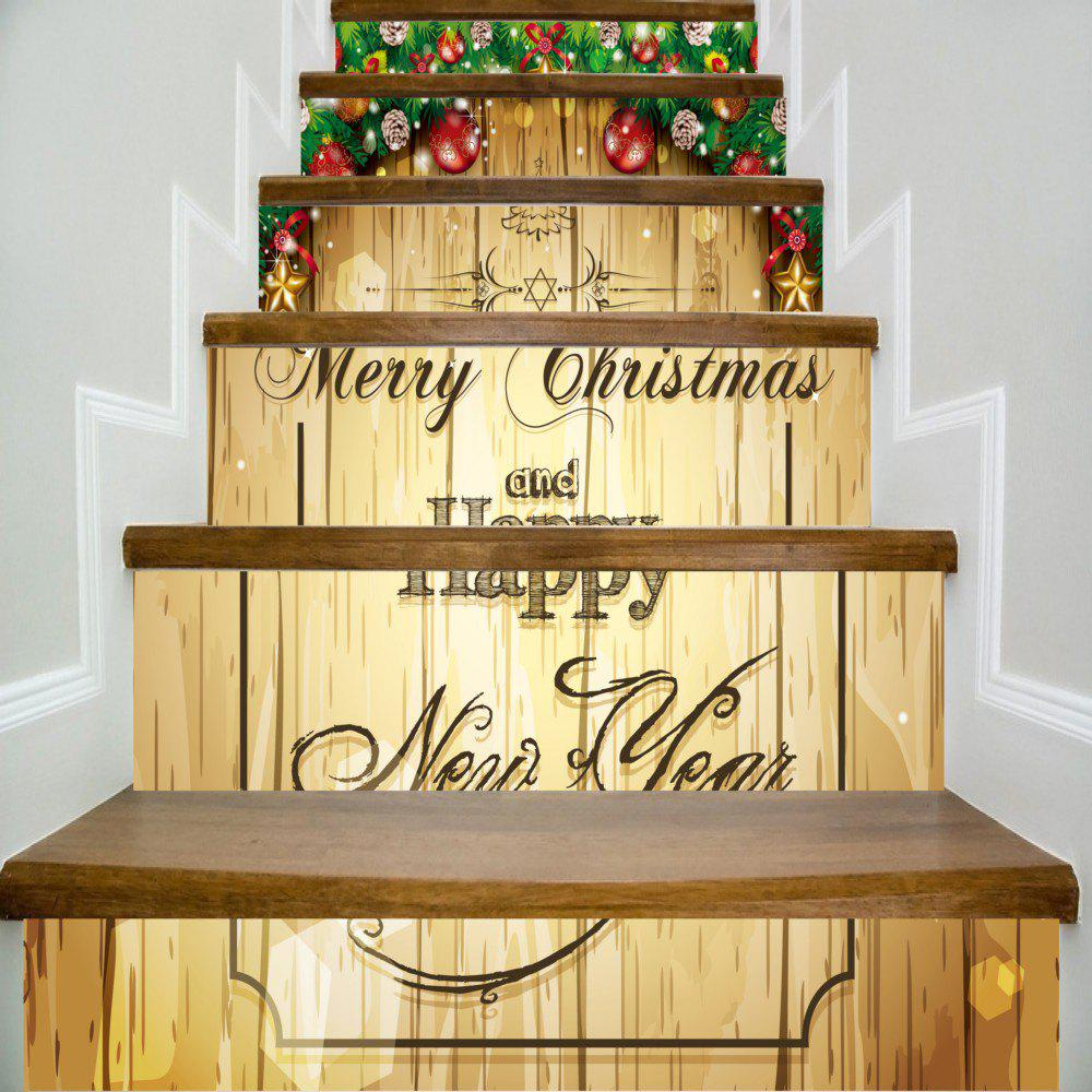 2018 Merry Christmas Happy New Year Motto Decoration Pattern Stair ...
