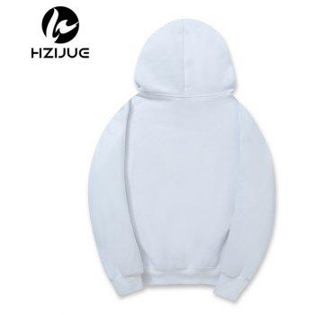 Hooded Sweater Men'S Daily Casual Hoodie - WHITE M