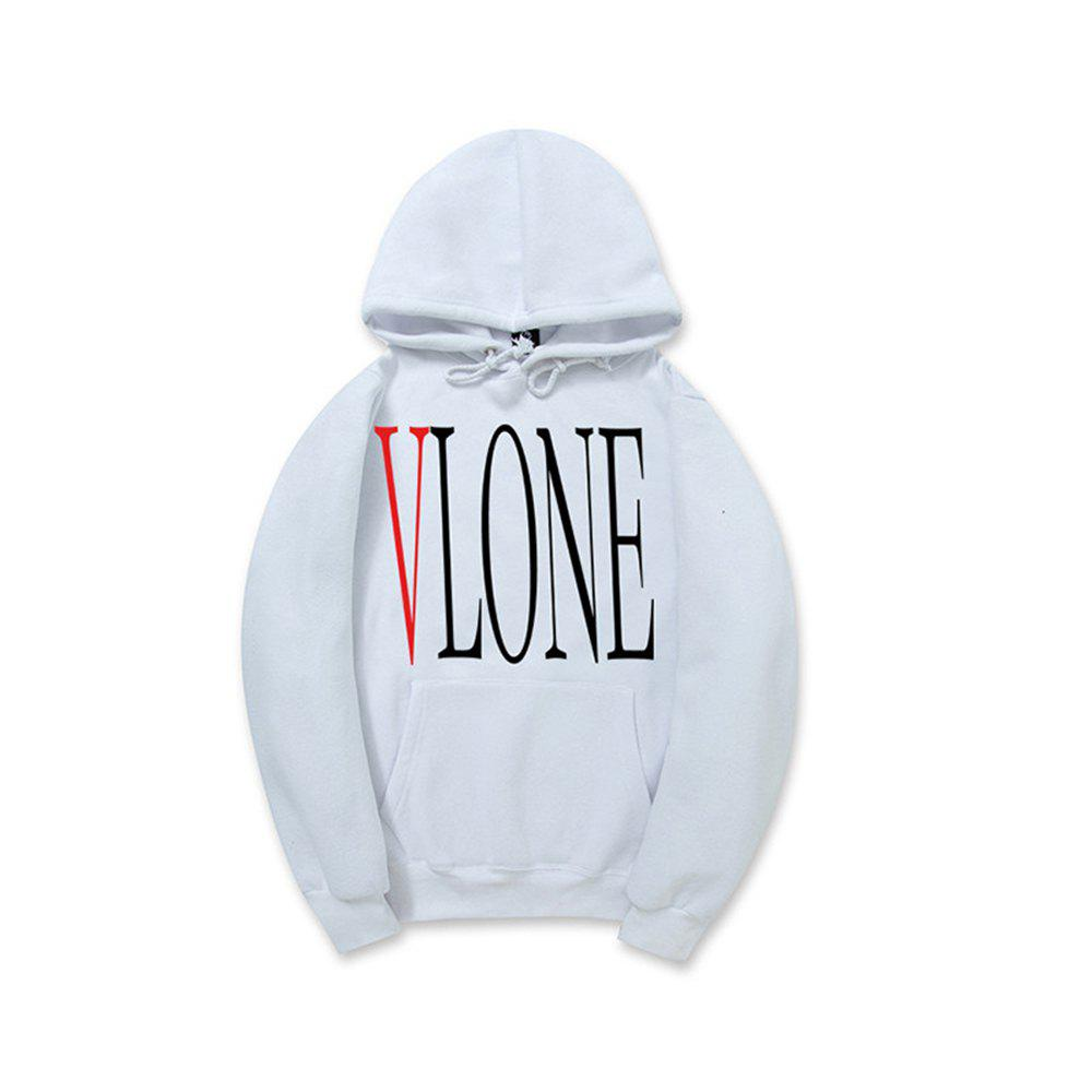 Street Fashion Men'S Printed Hoodie - WHITE L
