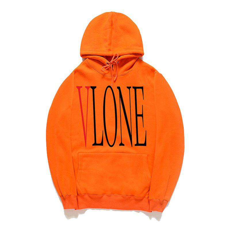 Street Fashion Men'S Printed Hoodie - ORANGE L
