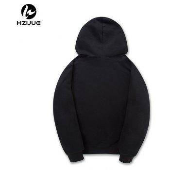 Fashion All-Match Mens Hoodie - BLACK M