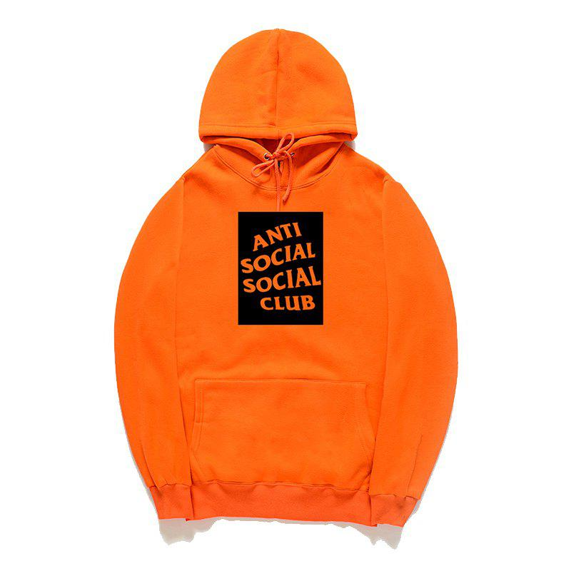 Sweat-shirt à capuche pour hommes All-Match - Orange S