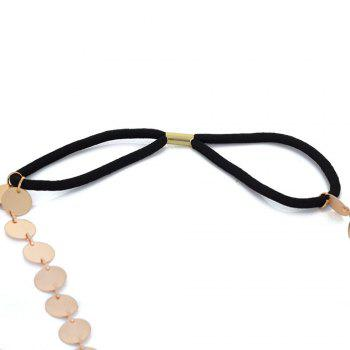 Fashion accessories simple style metal matte texture round elastic band headband ladies trendy hair band - GOLDEN