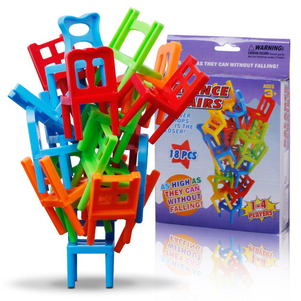 Balance Chairs Board Game Children Educational Toy Balance Toy Puzzle Board Game Environmental Protection ABS Plastic z97m d3h z97 lga1150 matx all solid game board board