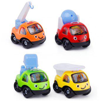 Mini Pull Back  Cartoon Cars  High Quality Funny Pull Back Sand Tools Truck Kids Vehicles Children Racing Car Mod -  COLORMIX