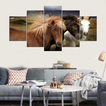 YSDAFEN 5 Pcs Lion Mur Art Image Salon Décor Impression Peinture - multicolorcolore 30X40CMX2+30X60CMX2+30X80CMX1(12X16INCHX2+12X24INC