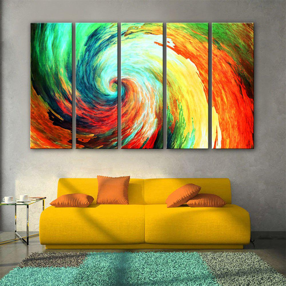 2018 Special Design Frameless Paintings Spiral Print 5PCS COLORFUL X ...