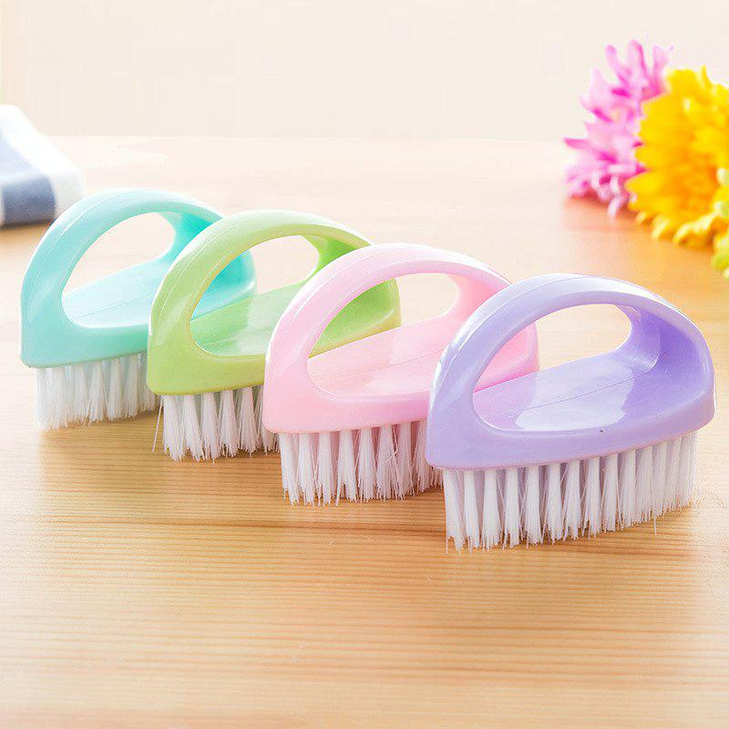 DIHE Egg Shape Multifunctional Pappus Cleaning Brush Hand Shank - GREEN