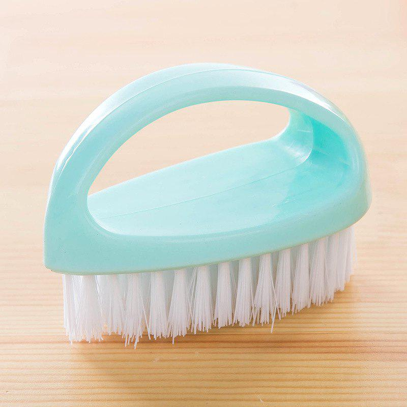 DIHE Egg Shape Multifunctional Pappus Cleaning Brush Hand Shank - BLUE