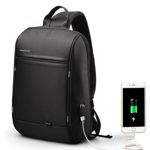 Backpack Diagonal Usb Charging Interface - BLACK