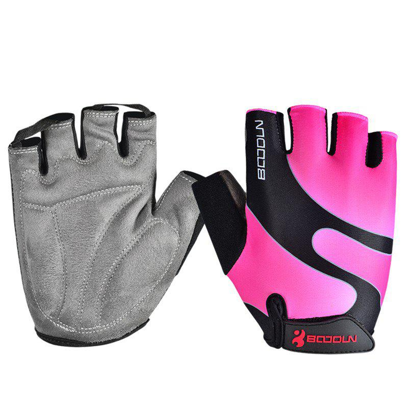 Gym Gloves Men Women Body Building Fingerless Fitness Half Glove Anti Slip Weight Lifting Sport Training for Women Girl - PINK L