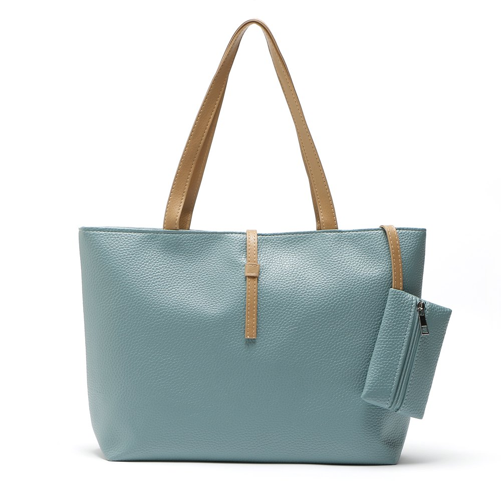 Beach Bag Handbags High Quality Top-Handle Bags Women Bag Ladies Leather Shoulder Bags - LIGHT GREEN