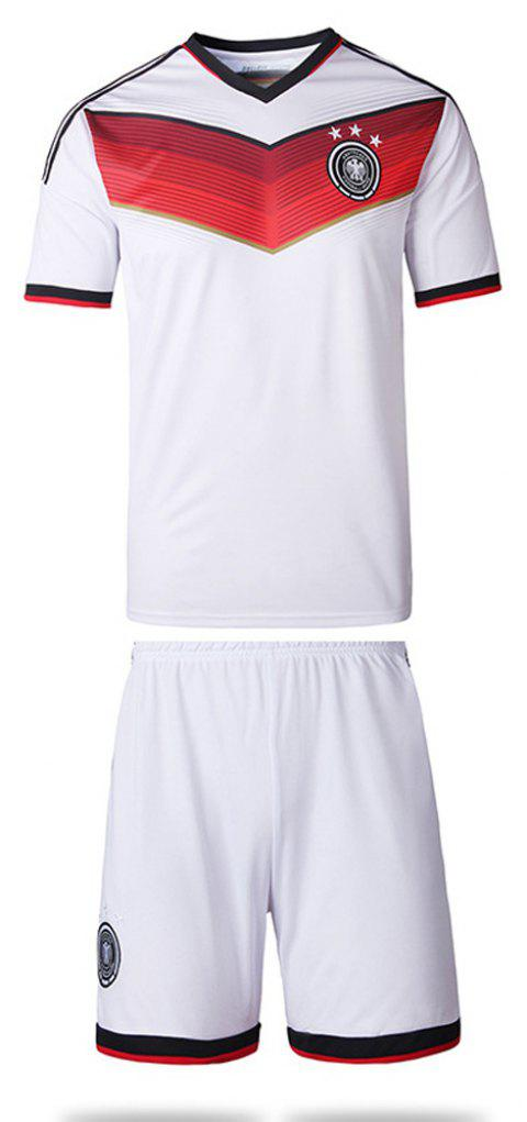 Men'S Football Jerseys T-Shirt and Shorts - WHITE 2XL