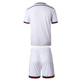 Men'S Football Jerseys T-Shirt and Shorts - WHITE WHITE